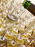 Pouring a glass of champagne Stock Photo - Premium Rights-Managed, Artist: Photocuisine, Code: 825-03628808