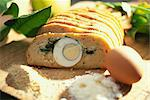 Hard boiled egg and cheese terrine Stock Photo - Premium Rights-Managed, Artist: Photocuisine, Code: 825-03628821