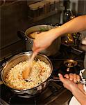 Mixing the rice and the vegetables Stock Photo - Premium Rights-Managed, Artist: Photocuisine, Code: 825-03629071