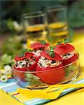 Tomatoes stuffed with tuna and capers Stock Photo - Premium Rights-Managed, Artist: Photocuisine, Code: 825-03629101