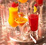 Fruit juice cocktails without alcohol Stock Photo - Premium Rights-Managed, Artist: Photocuisine, Code: 825-03629142