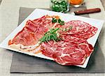 Dish of cold cuts Stock Photo - Premium Rights-Managed, Artist: Photocuisine, Code: 825-03629366