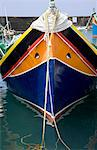 Fishing boat in harbor of Marsalforn, Gozo, Malta Stock Photo - Premium Royalty-Free, Artist: RK, Code: 618-03631844