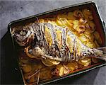 Braised sea bream with dried fennel Stock Photo - Premium Royalty-Free, Artist: Photocuisine, Code: 652-03634769