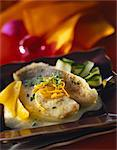 John Dory fillet with orange butter sauce Stock Photo - Premium Royalty-Freenull, Code: 652-03635159