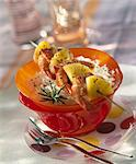 Spicy gambas and pineapple brochettes Stock Photo - Premium Royalty-Freenull, Code: 652-03635469
