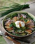 Potato,salmon,spinach and soft-boiled egg salad Stock Photo - Premium Royalty-Free, Artist: CulturaRM, Code: 652-03635741