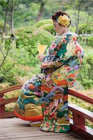 Bride in Japanese Wedding Gown, Hiroshima, Hiroshima Prefecture, Chugoku Region, Honshu, Japan Stock Photo - Premium Rights-Managednull, Code: 700-03638968