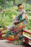 Bride in Japanese Wedding Gown, Hiroshima, Hiroshima Prefecture, Chugoku Region, Honshu, Japan Stock Photo - Premium Rights-Managed, Artist: Jeremy Woodhouse, Code: 700-03638968
