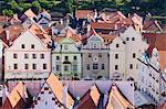 Town Square, Cesky Krumlov, South Bohemian Region, Bohemia, Czech Republic Stock Photo - Premium Rights-Managed, Artist: Jeremy Woodhouse, Code: 700-03639002