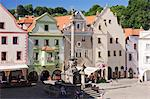 Town Square, Cesky Krumlov, South Bohemian Region, Bohemia, Czech Republic Stock Photo - Premium Rights-Managed, Artist: Jeremy Woodhouse, Code: 700-03639007