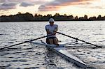 Man Rowing, Lake Ontario, Ontario, Canada