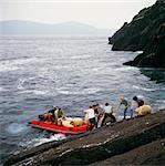 Inishtooskert, Co Kerry, Ireland, Taking Sheep To The Mainland By Boat Stock Photo - Premium Rights-Managed, Artist: IIC, Code: 832-03639469