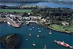 Strangford Lough, Co Down, Ireland; Aerial View Of Boats And Buildings Stock Photo - Premium Rights-Managed, Artist: IIC, Code: 832-03639572