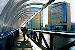 River Lagan, Belfast, Ireland; Footbridge Over A River Stock Photo - Premium Rights-Managed, Artist: IIC, Code: 832-03639819