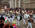 Marching Band, St. Patrick's Day Parade, College Green, Dublin, Co Dublin, Ireland Stock Photo - Premium Rights-Managed, Artist: IIC, Code: 832-03639873