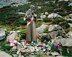Statue Of Padre Pio, Gap Of Mamore, Inishowen, Co Donegal, Ireland Stock Photo - Premium Rights-Managed, Artist: IIC, Code: 832-03639957