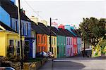 Eyeries, Beara Peninsula, Co Cork, Ireland; Colorful Houses In A Village
