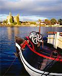 Dromineer, Lough Derg, County Tipperary, Ireland; Boat On Lake With Castle In Background Stock Photo - Premium Rights-Managed, Artist: IIC, Code: 832-03640283