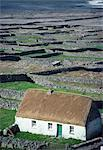 Inishmaan,Aran Islands,Co Galway,Ireland;High Angle View Of Traditional Cottage Stock Photo - Premium Rights-Managed, Artist: IIC, Code: 832-03640413