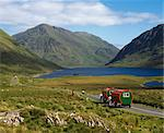 Tourism, Horse Drawn Caravans, Doo Lough Co Mayo Stock Photo - Premium Rights-Managed, Artist: IIC, Code: 832-03640482