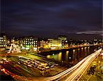 Dublin Street Scenes, O'connell Bridge, At Night, Stock Photo - Premium Rights-Managed, Artist: IIC, Code: 832-03640487