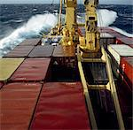 Shipping, Container Ship In Storm. Stock Photo - Premium Rights-Managed, Artist: IIC, Code: 832-03640792