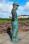 Waterville, County Kerry, Ireland; Charlie Chaplin Statue