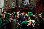 Dublin, Ireland; People Gather In The Street Outside The Temple Bar In Celebration Of Saint Patrick's Day Stock Photo - Premium Rights-Managed, Artist: IIC, Code: 832-03640976