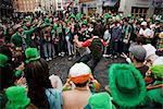 Dublin, Ireland; People Gathered To Watch A Street Performer On Saint Patrick's Day Stock Photo - Premium Rights-Managed, Artist: IIC, Code: 832-03640979