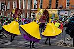 Dublin, Ireland; People In Costumes In A Parade On O'connell Street Stock Photo - Premium Rights-Managed, Artist: IIC, Code: 832-03641009