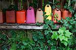 Empty Gas Containers on Shelf Stock Photo - Premium Royalty-Free, Artist: Grant Harder, Code: 600-03641243