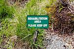 Rehabilitation Area - Please Keep Off Sign in Park, British Columbia, Canada Stock Photo - Premium Royalty-Free, Artist: Grant Harder, Code: 600-03641259