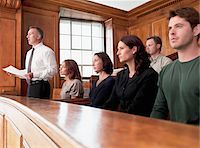 Jury sitting in courtroom Stock Photo - Premium Royalty-Freenull, Code: 635-03642122