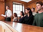 Jury sitting in courtroom Stock Photo - Premium Royalty-Free, Artist: Aflo Relax, Code: 635-03642122
