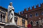 Statue of Dante, Piazza dei Signori, Verona, Veneto, Italy