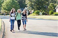 Group of Friends Walking to School Stock Photo - Premium Rights-Managednull, Code: 700-03644532