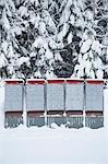 Row of Mail Boxes in the Snow, British Columbia, Canada Stock Photo - Premium Royalty-Free, Artist: Grant Harder, Code: 600-03644683