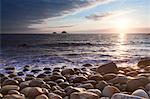 Sunset Over Porth Nanven Cove, Near Cot Valley and St Just, West Cornwall, Cornwall, England Stock Photo - Premium Royalty-Free, Artist: F. Lukasseck, Code: 600-03644784