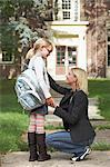 Mother Walking Daughter to School Stock Photo - Premium Rights-Managed, Artist: Jerzyworks, Code: 700-03644811