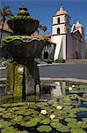 Mission Santa Barbara and Fountain, Santa Barbara, California, USA Stock Photo - Premium Rights-Managed, Artist: Damir Frkovic, Code: 700-03644867