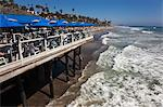 Restaurant on Pier, San Clemente Beach, Orange Country, California, USA Stock Photo - Premium Rights-Managed, Artist: Damir Frkovic, Code: 700-03644883