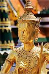 Thailand,Bangkok,Wat Phra Kaeo,Grand Palace,Kinnari Statue in Wat Phra Kaeo Stock Photo - Premium Rights-Managed, Artist: Asia Images, Code: 849-03645106