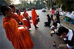 Thailand,Chiang Mai,Monks Receiving Offerings of Food Stock Photo - Premium Rights-Managed, Artist: Asia Images, Code: 849-03645661