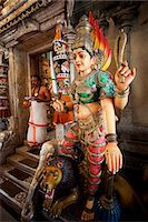 Singapore,Little India,Sri Veerama-kaliamman Hindu Temple,Statue of Lakshmi Stock Photo - Premium Rights-Managednull, Code: 849-03645731