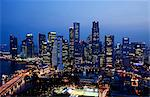 Singapore,City Skyline of CBD at night Stock Photo - Premium Rights-Managed, Artist: Asia Images, Code: 849-03645802