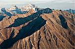 Aerial view of Mt.Igikpak (right) of the Schwatka Mountains and Brooks Range, the highest peak in Gates of the Arctic National Park & Preserve, Arctic Alaska, Fall Stock Photo - Premium Rights-Managed, Artist: AlaskaStock, Code: 854-03646688