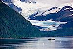 View of Billings Glacier across Passage Canal in Summer with the Alaska State Ferry in the foreground, Whittier, Southcentral Alaska Stock Photo - Premium Rights-Managed, Artist: AlaskaStock, Code: 854-03646765