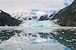 Scenic view of Surprise Glacier reflected in the waters of Prince William Sound, Harriman Fjord, Southcentral Alaska, Summer Stock Photo - Premium Rights-Managed, Artist: AlaskaStock, Code: 854-03646772