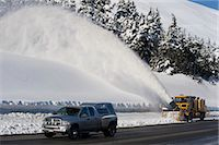 snow plow truck - A snowblower follows a truck up the highway in Turnagain Pass, Kenai Peninsula, Southcentral Alaska, Winter Stock Photo - Premium Rights-Managednull, Code: 854-03646799